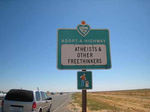 Adopt-a-Highway Sign demonstrates miracle of Stigmata